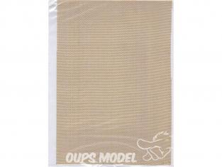 maquett 830-05 grillage laiton 1mm plaque de 140x200mm
