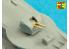 Aber 400L11 Set de 20 Futs de canon pour le destroyer polonais ORP Blyskawica 102mm x 8 40mm x 4 20mm x 4 1/400