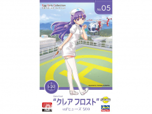 Hasegawa maquette avion 52186 Egg Girls Collection No.05 Claire Frost avec Hughes 500 EGG PLANE