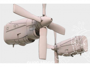 Brengun kit d'amelioration avion BRL72154 Ensemble moteur C-130 E / H (kit Italeri) 1/72