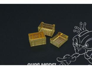 Hauler accessoires diorama HLX48387 Caisses imitation plastique en photodecoupe 1/35