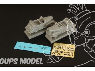 Brengun accessoire diorama BRS144039 German Staff Car Cabrio 1/144