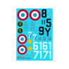 DECALQUES BERNA DECALS BD32-56 Aces on Bloch MB 152 C-1 1/32