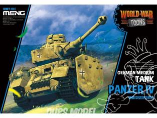 Meng maquette militaire WWT-013 Char moyen Allemand Panzer IV SERIE WORLD WAR TOON