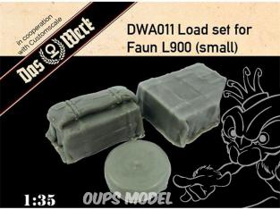 DAS WERK maquette militaire DWA011 Ensemble de charge pour Faun L900 petit 1/35