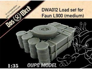 DAS WERK maquette militaire DWA012 Ensemble de charge pour Faun L900 moyen 1/35