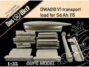 DAS WERK maquette militaire DWA010 V-1 en transport pour charge Sd.Ah.115 1/35