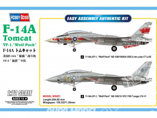 "Hobby Boss maquette avion 80279 F-14A Tomcat VF-1 ""Wolf Pack"" 1/72"