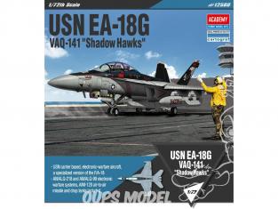 """Academy maquette avion 12560 USN EA-18G VAQ-141 """"Shadow Hawks"""" 1/72"""