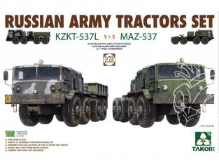 Takom maquette militaire 5003 Set Camions Armée Russe KZKT-537L + MAZ-537 1/72