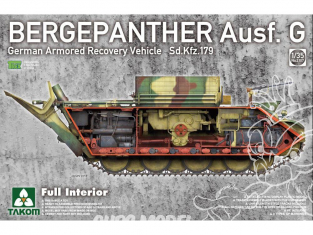 Takom maquette militaire 2107 Bergepanther Ausf.G Sd.Kfz.179 avec Intérieur complet 1/35