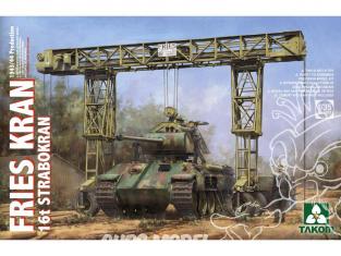 Takom maquette militaire 2109 Grue de Levage FRIES KRAN 16t STRABOKRAN 1944/45 1/35