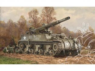 Italeri maquette militaire 7076 M12 Gun Motor Carriage 1/72