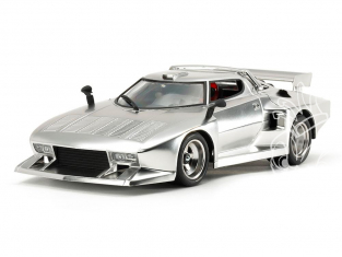 "TAMIYA maquette voiture 25418 Lancia Stratos Turbo ""Silver Color Plated"" 1/24"