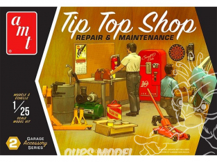 AMT maquette voiture PP016 Tip Top Shop Reparation et Maintenance 1/25