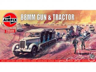 Airfix maquette militaire 02303V Vintage Classics 88mm Gun et Tractor 1/76