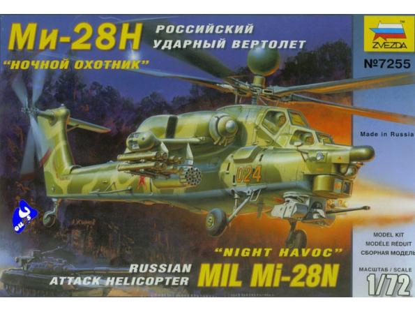 Zvezda maquette avion 7255 mil mi-28n 1/72