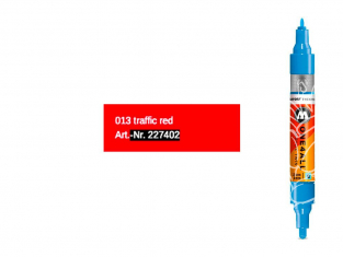 Molotow 227403 marqueur rechargeable Acrylic Twin orange dare pointe 1,5mm et 4mm