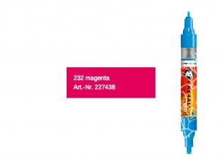 Molotow 227436 marqueur rechargeable Acrylic Twin Bleu shock pointe 1,5mm et 4mm