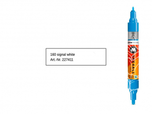 Molotow 227411 marqueur rechargeable Acrylic Twin Blanc pointe 1,5mm et 4mm