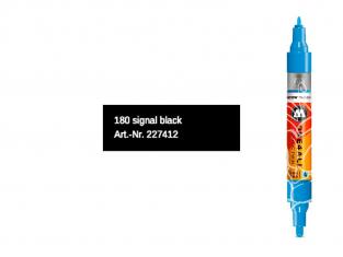Molotow 227412 marqueur rechargeable Acrylic Twin Noir pointe 1,5mm et 4mm