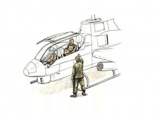 Cmk kit figurine F72349 Pilotes assis (2 personnages) et équipage au sol (1 personnage) 1/72