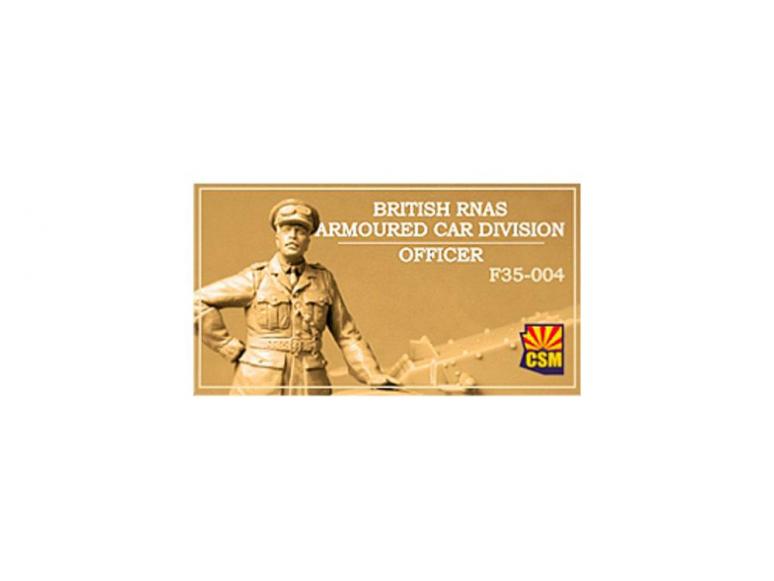 Copper State Models personnel militaire F35-004 Officier de la Division des véhicules blindés du RNAS britannique 1/35