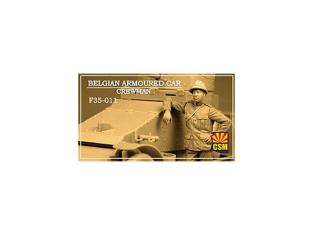 Copper State Models personnel militaire F35-0011 Membre d'équipage de voiture blindée belge 1/35