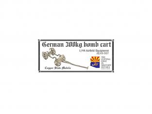 Copper State Models acessoire avion AE48-007 Chariot pour Bombe allemande de 300 kg 1/48