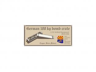 Copper State Models acessoire avion AE32-006 Caisse de bombes allemande de 100kg 1/32