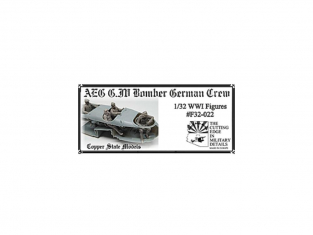 Copper State Models personel F32-022 AEG G.IV Bombardier allemand équipage 1/32