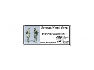 Copper State Models personel F32-034 Équipage naval allemand WWI 1/32