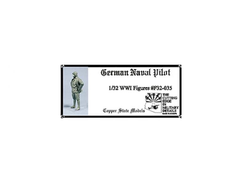 Copper State Models personel F32-035 Pilote de la marine allemande WWI 1/32