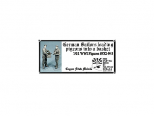 Copper State Models personel F32-043 Marins allemands avec des pigeons WWI 1/32