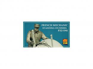Copper State Models personel F32-046 Mécanicien français sur une roue WWI 1/32