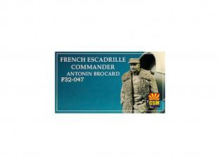 Copper State Models personel F32-047 Commandant d'escadrille française Antonin Brocard WWI 1/32