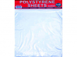 Plus Model 523 plaques Polystyrene blanches 220x190 0.4mm