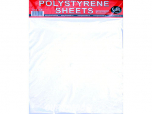 Plus Model 525 plaques Polystyrene blanches 220x190 0.6mm