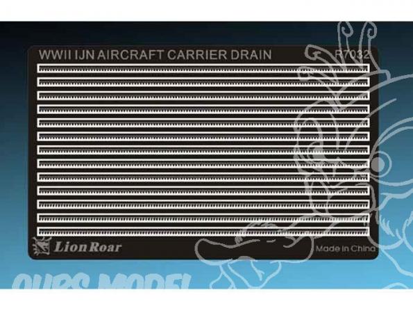 LION ROAR kit amelioration r7032 DRAINS DE PONTS DE PORTES AVIONS 1/700