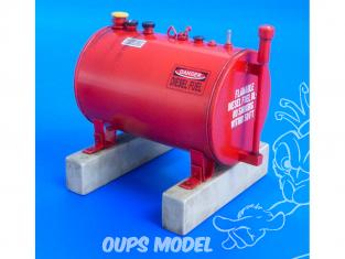 Plus Model Diorama 533 Cuve de carburant américain de 300 gallons 1/35