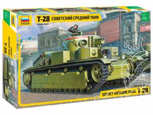 Zvezda maquette militaire 3694 Char moyen soviétique T-28 1/35