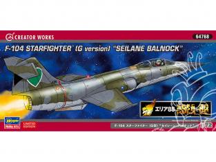 "HASEGAWA maquette avion 64768 ""Area 88"" F-104 Star Fighter (Type G) ""Seirene Barnack"" 1/72"