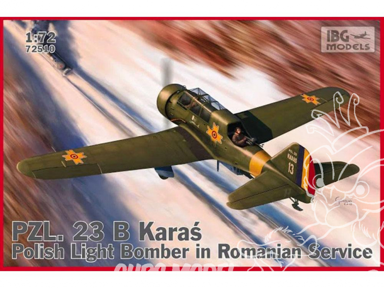 IBG maquette avion 72510 PZL 23B Karaś Roumain 1/72