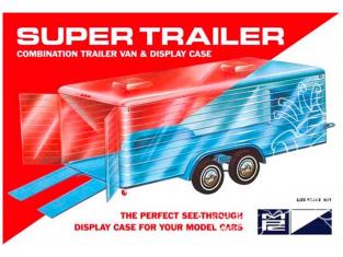 MPC maquette voiture 909 Super trailer remorque fourgon vitrine 1/25