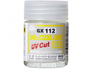 peinture maquette Mr Color GX112 Vernis brillant - Super Clear III UV Cut 18ml