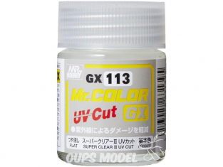 peinture maquette Mr Color GX113 Vernis mat - Super Clear III UV Cut 18ml