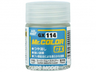 peinture maquette Mr Color GX114 Vernis mat Super Smooth Clear 18ml