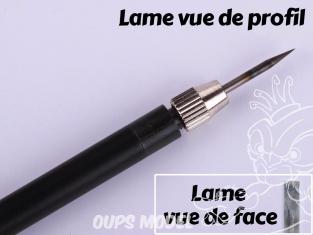 Mr Hobby GT75 Couteau de precision avec Lame plate