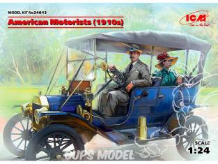 Icm maquette figurines 24013 Conducteur et passagere voitures des années 30 1/24