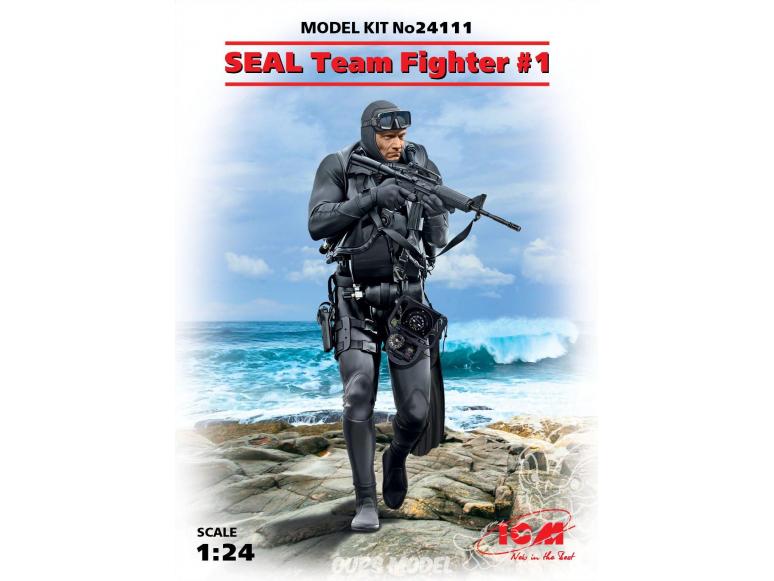 Icm maquette figurine 24104 SEAL Team Fighter №4 1/24